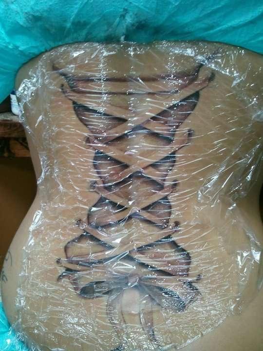 Back Corset tattoo