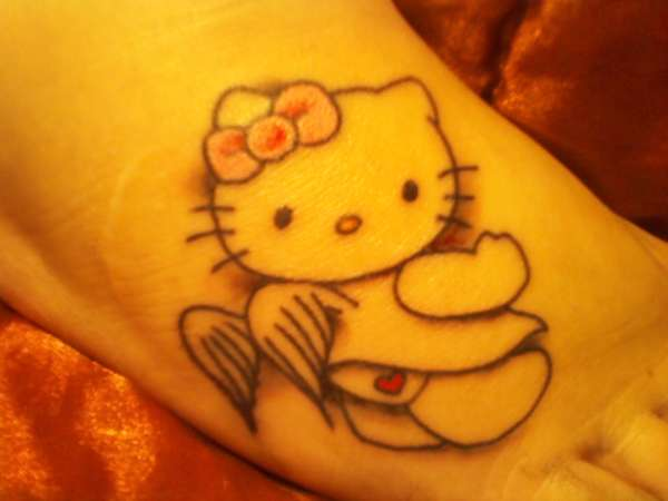 Hello Kitty Angel tattoo