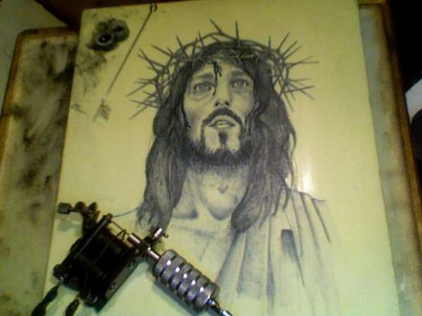 Jesus on fake skin tattoo for How to make fake skin for tattooing