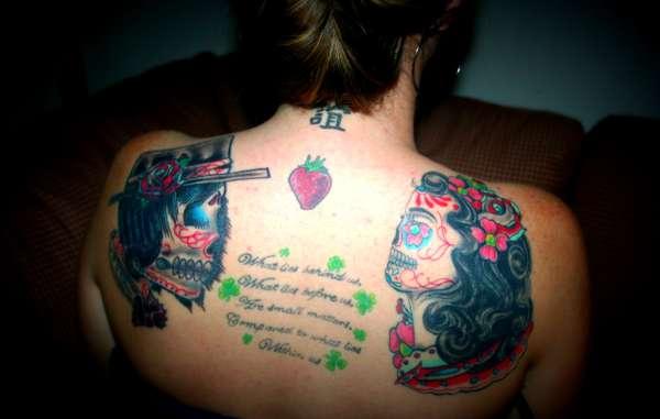 Male and Female Sugar Skull tattoo