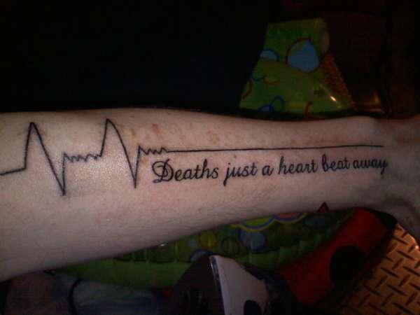 deaths just a heart beat away tattoo