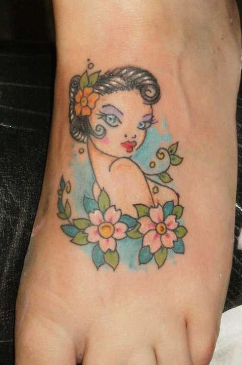 foot tat tattoo