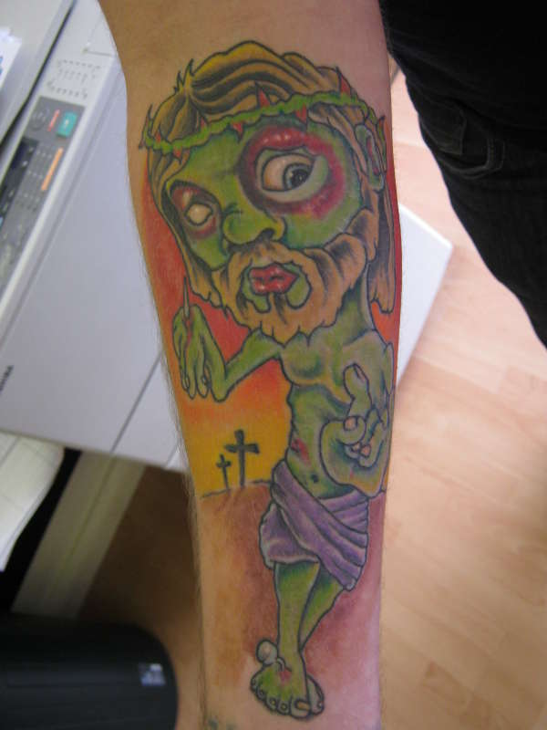 zombie jesus tattoo