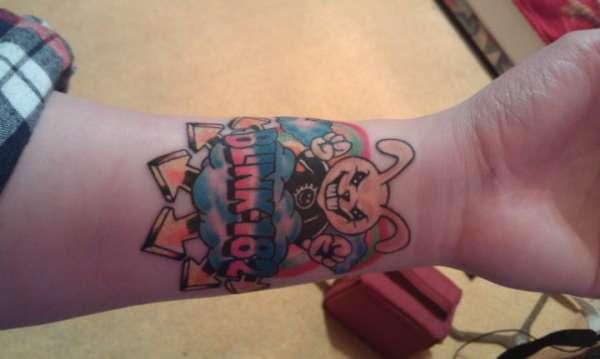 Blink 182 rabbit tattoo