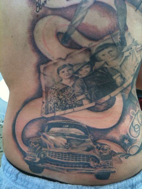 Close up Elvis tattoo