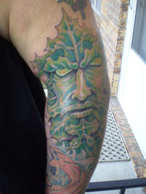 Celtic Greenman Armband: Green Man Tattoo