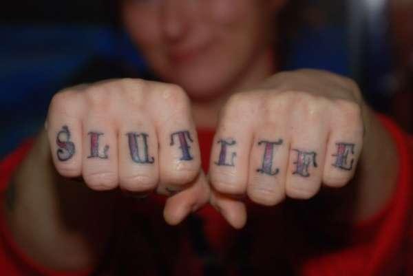 thumb Tattoo slut