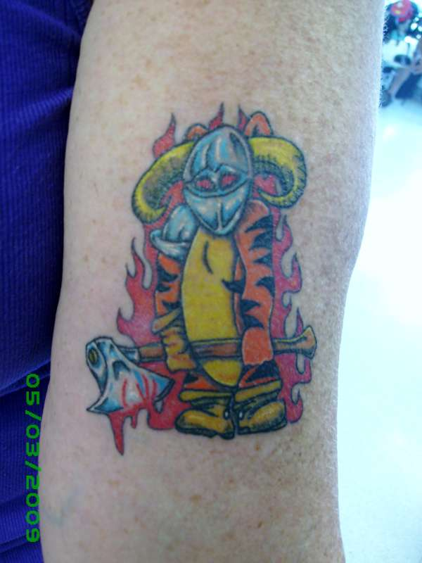 Evil Tigerbad Tigger Womens Arm Tattoo