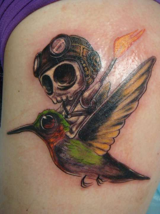 "H.I.C. ""Here I Come!"" tattoo"
