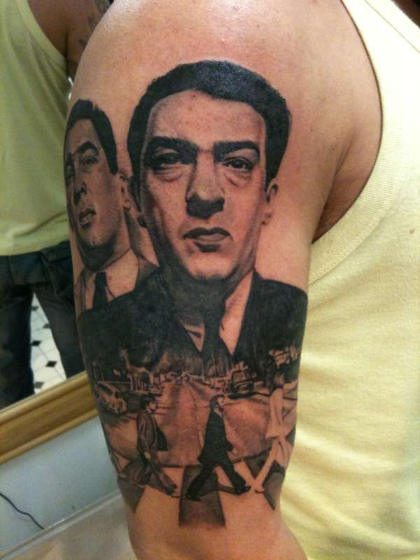 Krays and Abbey Road tattoo