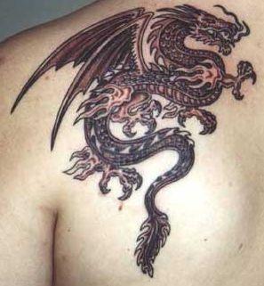 My first Tattoo, a Dragon tattoo