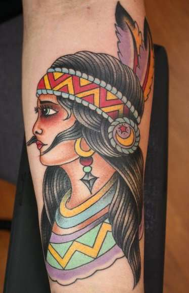 native american forearm tattoo tattoo