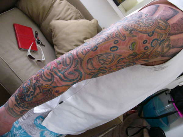 sleeve fill tattoo