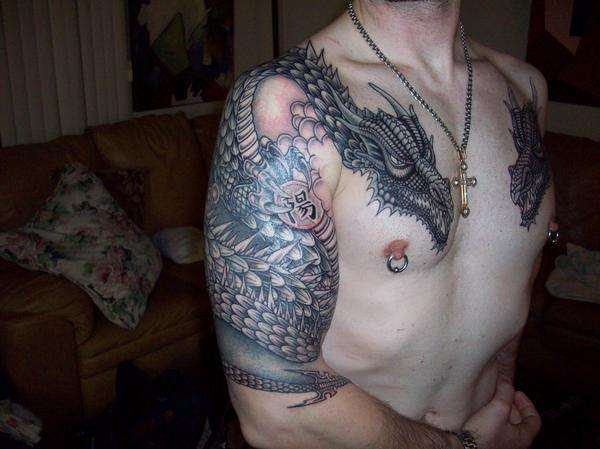 Dragon Chest Piece tattoo