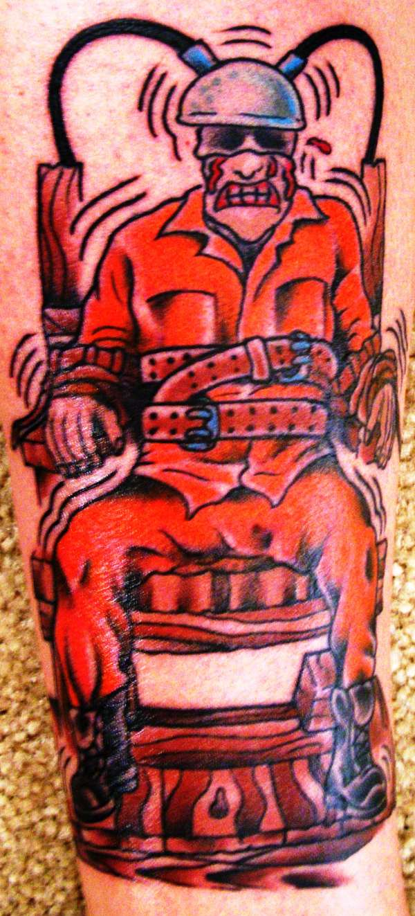 the gallery for electric chair tattoo