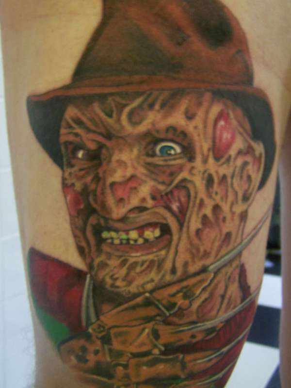 Freddy Krueger tattoo
