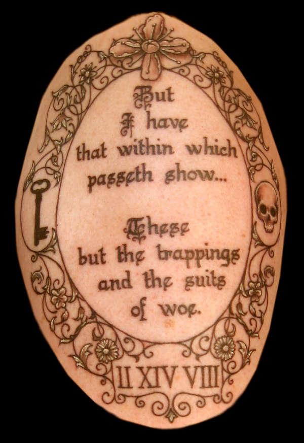 Hamlet / Memorial tattoo tattoo