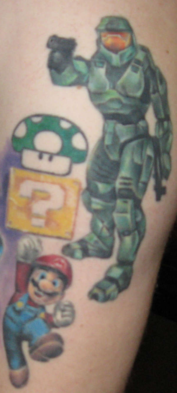 Master chief from halo tattoo publicscrutiny Gallery