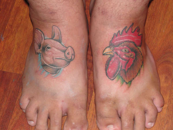 Pig Chicken tattoo