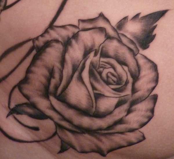 Rose Up Close tattoo
