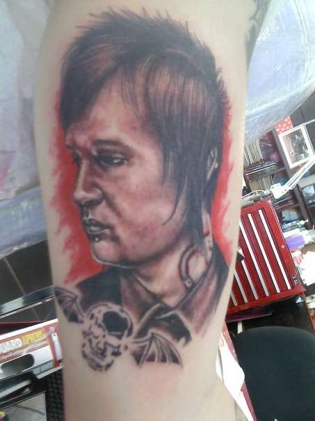 The Rev (RIP) tattoo