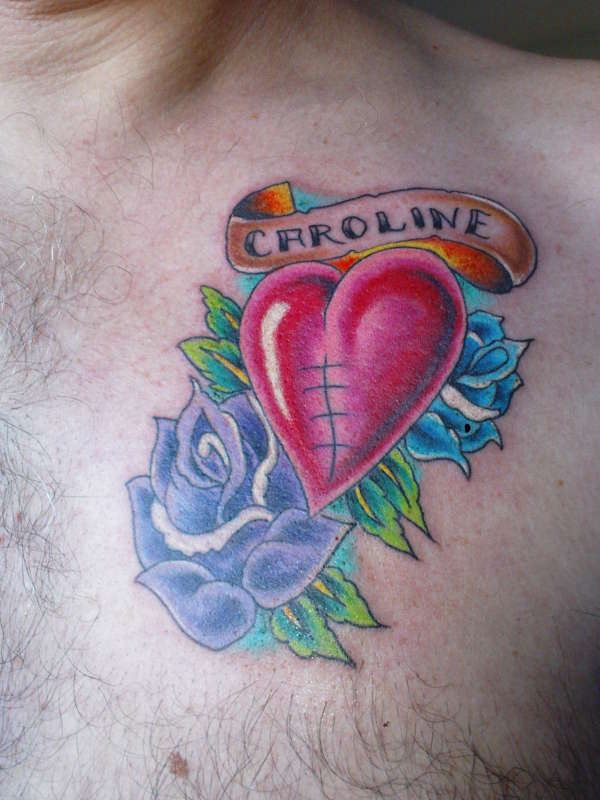 healed heart tattoo