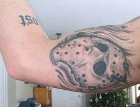 jason mask tattoo