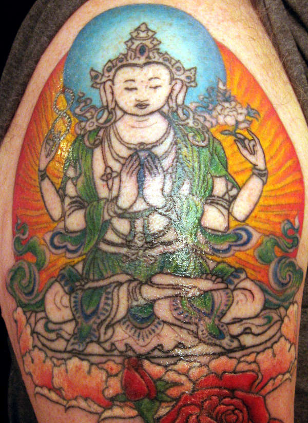 Avalokitesvara - On my husband's shoulder tattoo