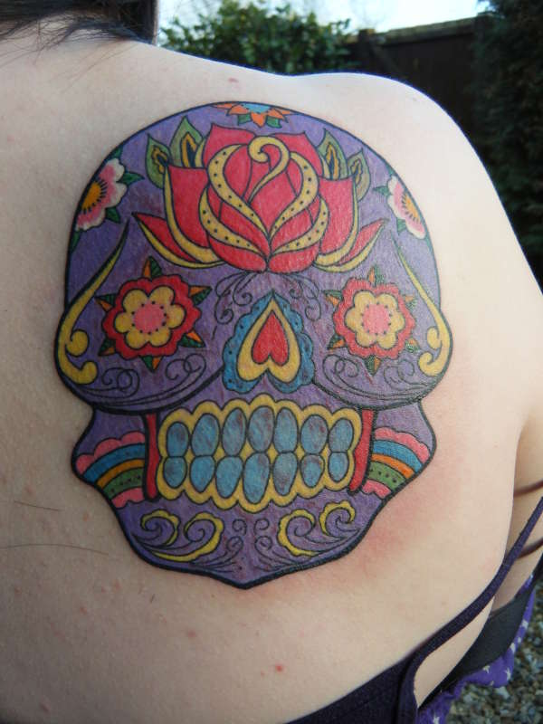 Sidney the Mexican Day of the Dead Sugar Skull tattoo