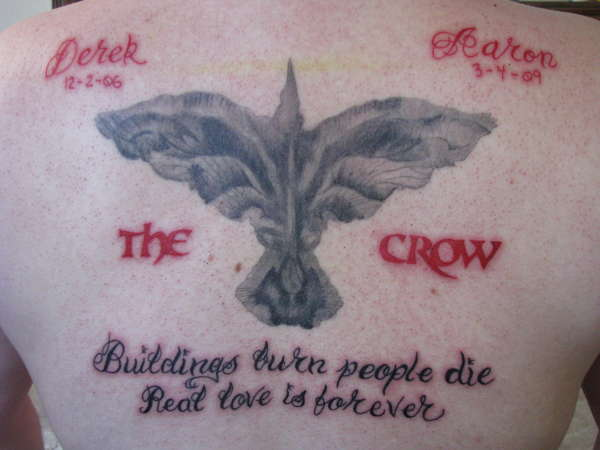 The Crow Finished tattoo