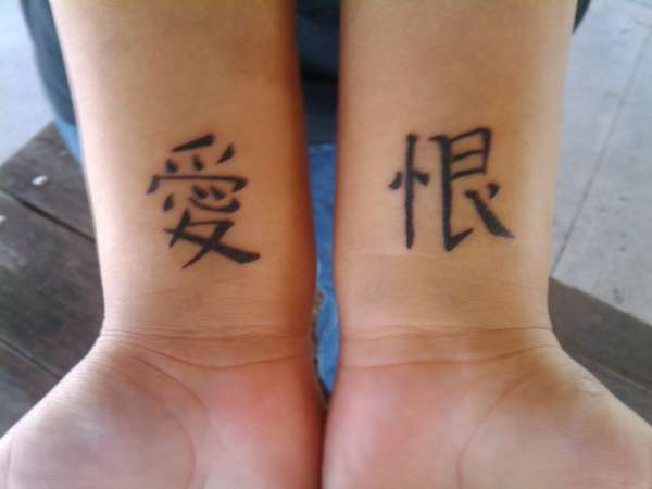 chinese symbols tattoo