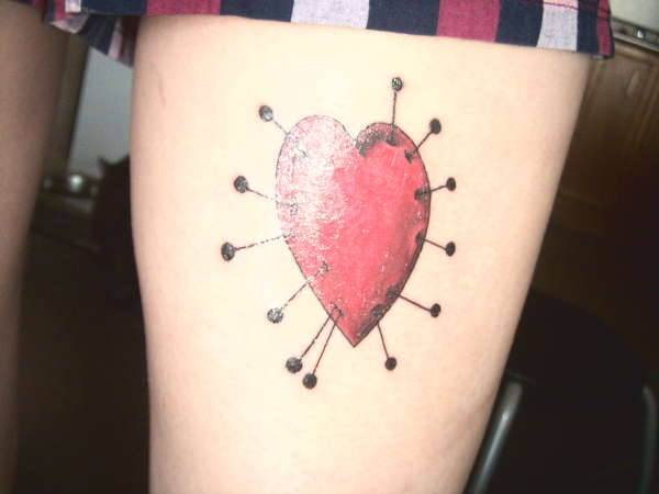 voo doo heart tattoo
