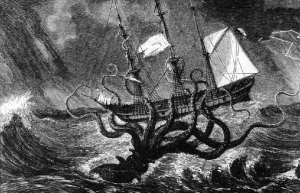 Ship and beast tattoo