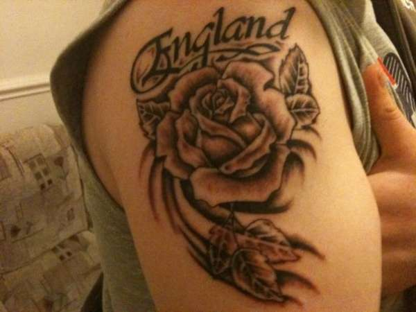 England Rose Tattoo