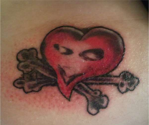 heart & crossbones tattoo