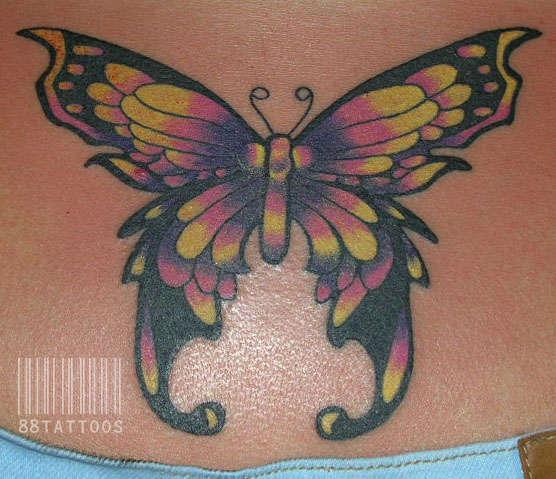 Back Butterfly tattoo