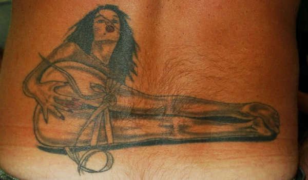 That interrupt bondage and tattoo for