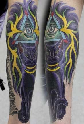 Ancient Egyptian Cat Tattoo tattoo