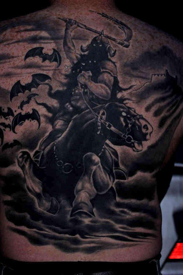 A Band Called Death Death Dealer tattoo