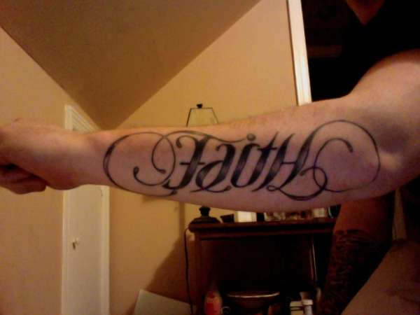 Faith/Hope Ambigram tattoo