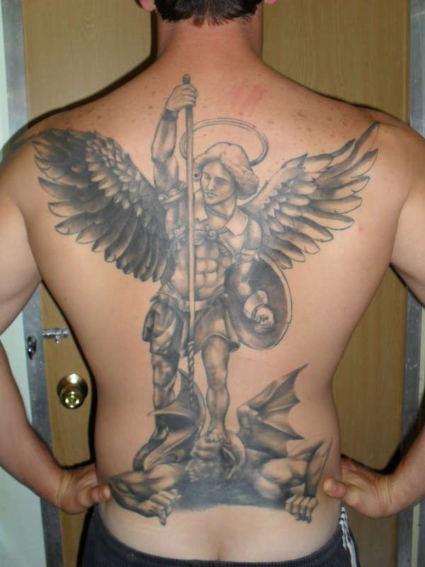 Michael vs Lucifer tattoo