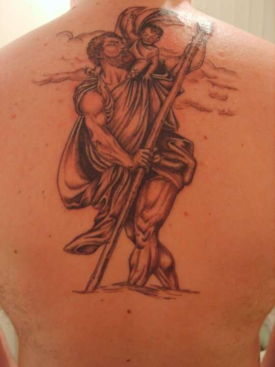 Saint Christopher tattoo