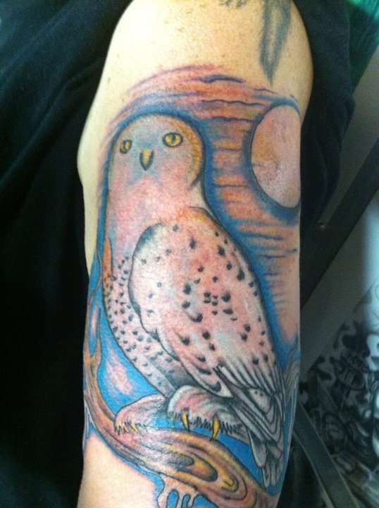 Snow Owl tattoo