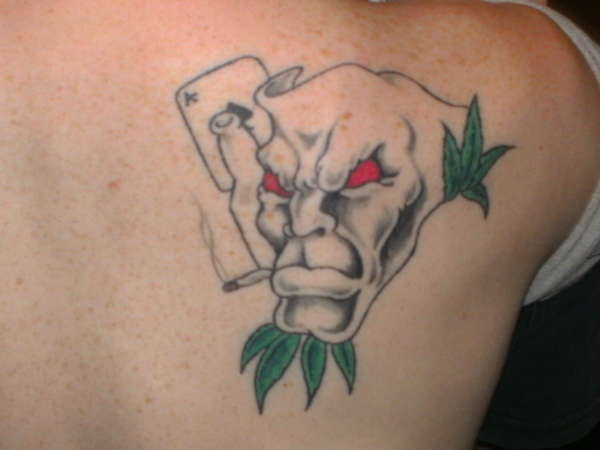 comedy&tragedy mask one side tattoo