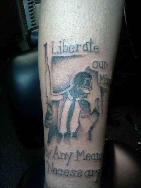 malcom x tattoo