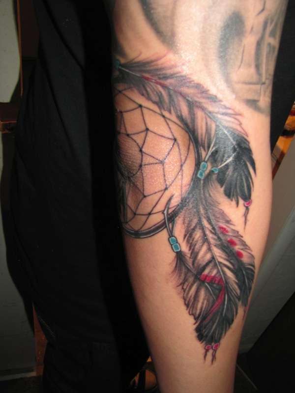 Dreamcatcher Feathers tattoo