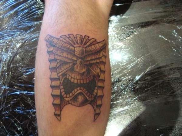 Tiki God tattoo