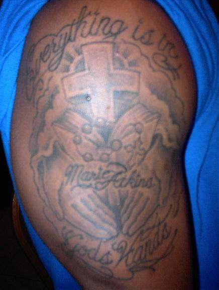 2044fd4cc85fc Everything Is In God's Hands tattoo