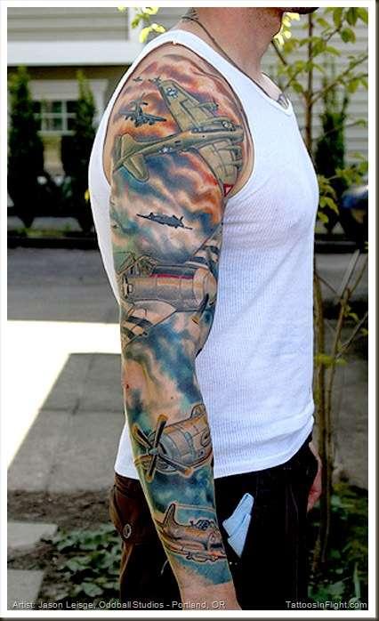 planes tattoo