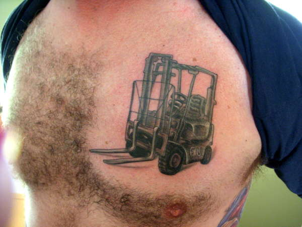 Memorial Forklift Tattoo - Forklift mechanic